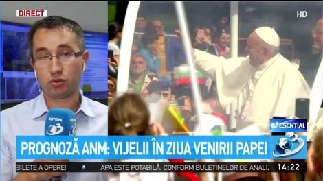 Prognoză ANM: Vijelii în ziua venirii Papei la Bucureşti. Vremea rea se va păstra tot weekendul