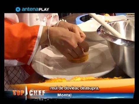 Mirela Ivaşcu prepară Carpaccio de Saint Jacques cu piure de dovleac şi morcovi caramelizaţi