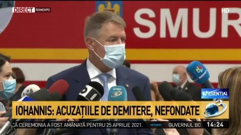 """Președintele Klaus Iohannis, prezent la recepția unităților mobile ATI cumpărate de Fundația Mereu Aproape, prin donațiile strânse la Teledonul Români Împreună: """"Este impresionant"""""""