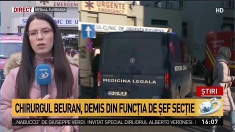 """Cazul pacientei arse. Medici și asistente de la Floreasca îl susțin pe doctorul Beuran: """"Este îngrijorător cum este prejudiciată imaginea unor medici de prestigiu"""""""