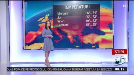 Vremea, la extreme în toată țara! De la 35 de grade la umbră, la maxime de 10, dimineața, în următoarele zile