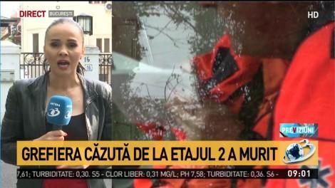 Grefiera care s-a aruncat de la etajul Curții de Apel Iași a murit. Femeia a lăsat un bilet de adio