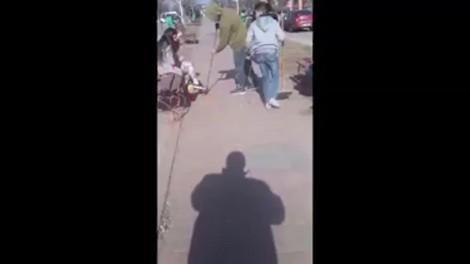 Video. Minori obligați de autorități să își strângă cojile de semințe după ce le-au aruncat în mijlocul străzii!