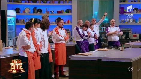 """Un botez, o nuntă de aur și o petrecere a burlacilor, adevărate examene pentru concurenții de la Chefi la Cuțite: """"Eu trebuie să câștig o probă, uite câți mai suntem!"""""""