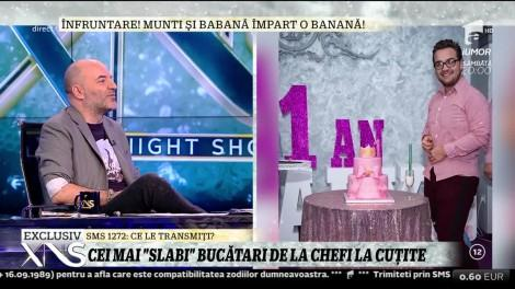 Marea înfruntare de la Chefi la Cuțite! Răzvan Babană și Munti s-au luat la întrecere. Care dintre ei a scăpat de 67 de kilograme?