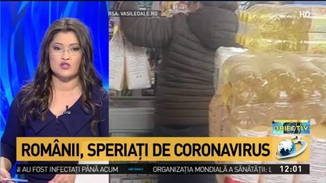 Românii, speriați de coronavirus. Au cumpărat făină, ulei și apă și le-au trimis pe microbuz rudelor din Italia