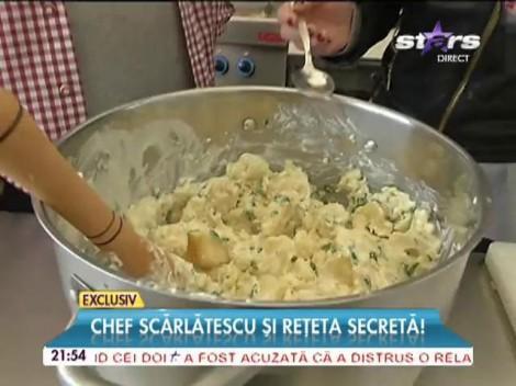 """Chef Scărlătescu a pregătit cea mai bună reţetă de cartofi zdobiţi: """"Când faci mâncare din suflet, toată lumea o să te iubească!"""""""