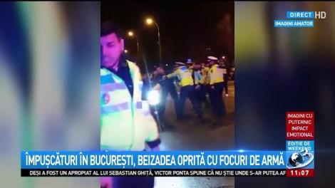 Focuri de armă în București! Polițiștii AU DESCHIS FOCUL după ce un coleg de-al lor a fost lovit!