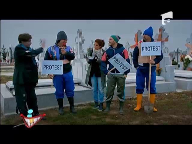 """Groparii din cimitirul """"Resurecției"""" protestează!"""