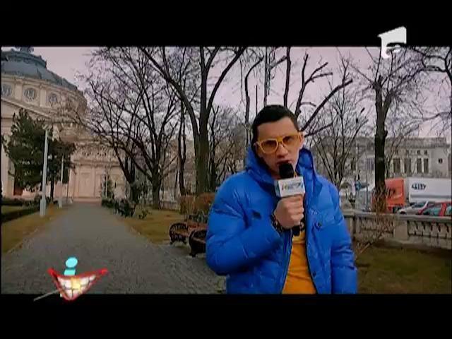Dl. Rimă, cu pluguşorul prin Bucureşti