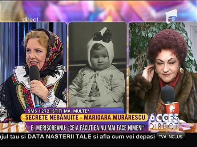"""Elena Merişoreanu: """"Marioara Murărescu l-a crescut singură pe Petrişor"""""""