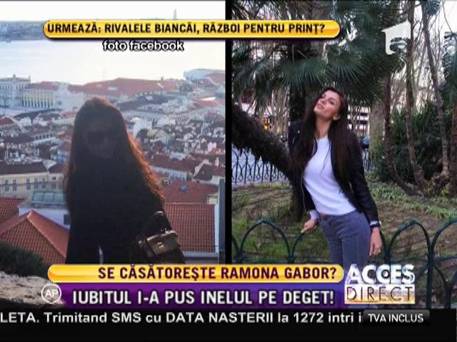 Ramona Gabor a primit un inel cu diamant de la iubitul ei arab