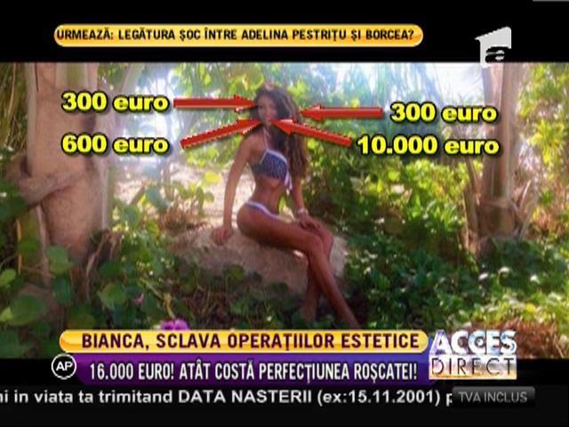 Bianca, 16.000 de euro pe operaţii estetice