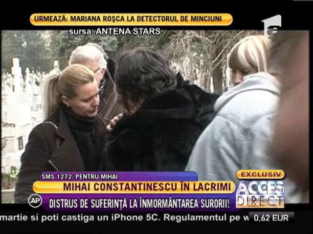 Mihai Constantinescu şi-a condus sora pe ultimul drum