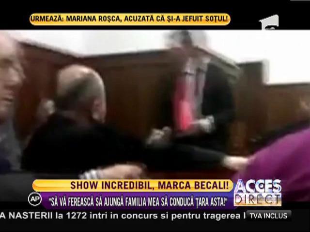 Giovani Becali, show la tribunal