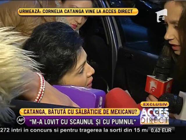 Cornelia Catanga a ajuns la spital după ce a fost lovită cu un scaun în cap!