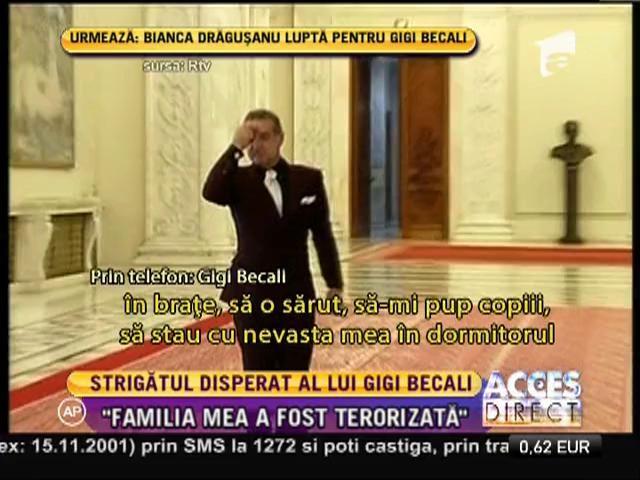 Strigătul disperat al lui Gigi Becali din spatele gratiilor!