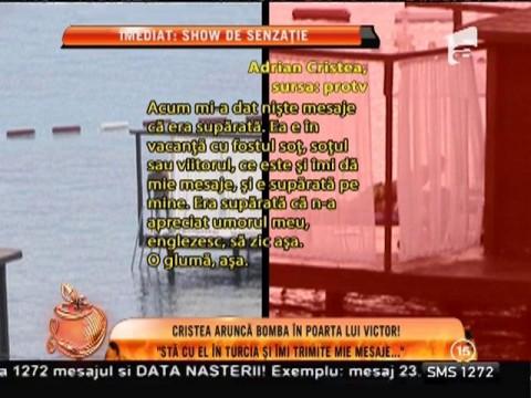 """Adrian Cristea aruncă bomba: """"Bianca sta cu Victor în Turcia, dar îmi trimite mesaje!"""""""
