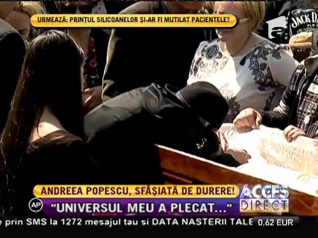 Andreea Popescu, dărâmată de durere