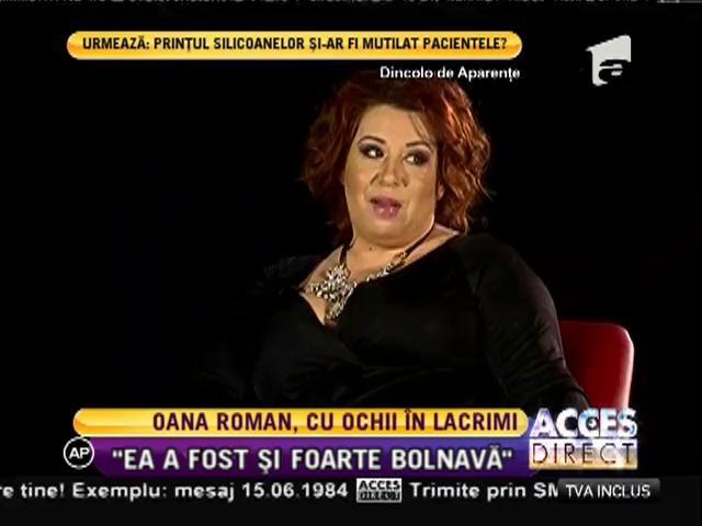 Oana Roman, cu ochii în lacrimi