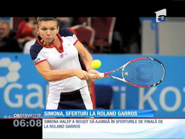 Simona Halep s-a calificat în sferturile de finală de la Roland Garros