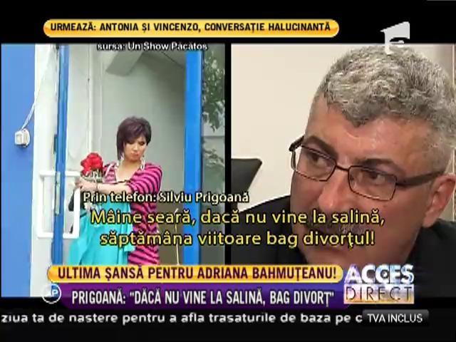 Ce hotărâre a luat Adriana Bahmuţeanu? Merge la soţul ei, sau de săptămâna viitoare va fi o femeie liberă?