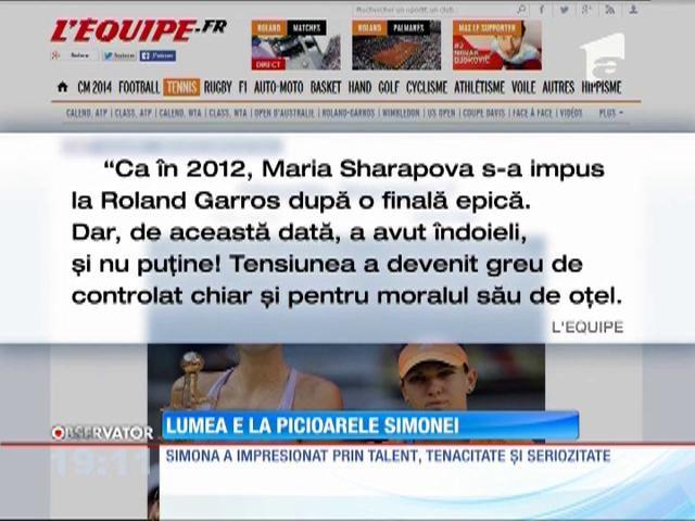 Presa străină elogiază evoluția Simonei Halep din finala de la Roland Garros