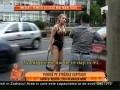 Înarmată cu biciuri erotice, Silvia a creat panică pe străzile Capitalei!