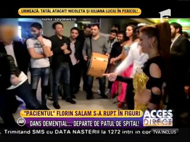 Florin Salam, dans demențial departe de patul de spital