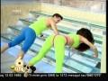 Flavia şi Miruna, antrenament circuit