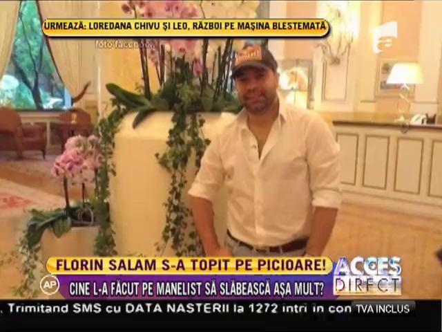 Florin Salam a scăpat de kilogramele în plus