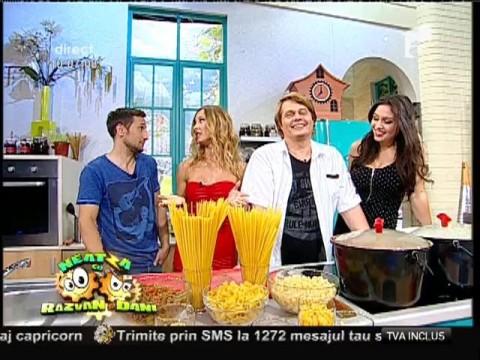 Spaghete Bolognese şi spaghete cu legume