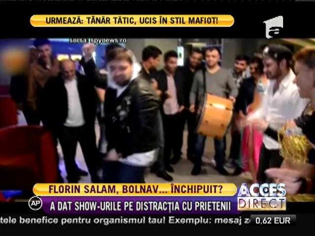 Florin Salam a dat show-urile pe distracția cu prietenii
