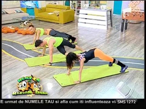 Flavia şi Miruna, antrenament de vară