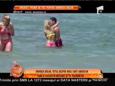 Andreea Bălan, tandrețuri pe plajă cu iubitul american