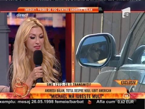 """Andreea Bălan: """"Nu știu dacă iubitul meu este bogat"""""""