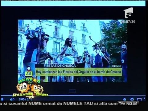Smiley news: Conchita Wurst a blocat metroul la Madrid