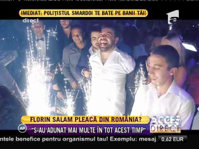 Florin Salam vrea să plece din România