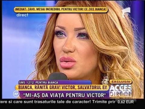 """Bianca Drăguşanu: """"Mi-aş da viaţă pentru Victor Slav"""""""