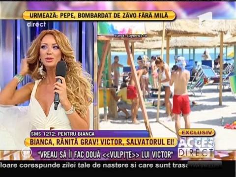 """Bianca Drăguşanu: """"Vreau să-i fac două vulpiţe lui Victor"""""""