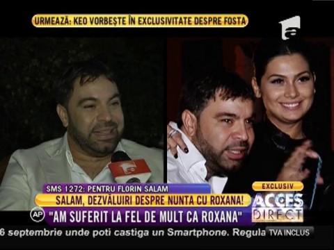"""Florin Salam: """"Roxana e cea mai frumoasă mireasă!"""""""