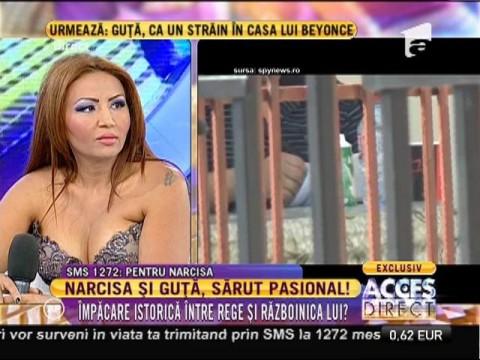 Nicolae Guţă, sărut pasional cu Narcisa