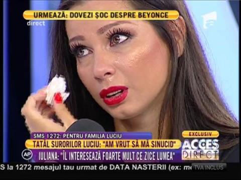 Iuliana Luciu, cu ochii în lacrimi, după declarațiile tatălui de pe patul de spital!