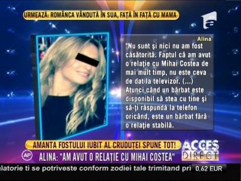 """Amanta lui Mihai Costea: """"Nu sunt însărcinată"""""""