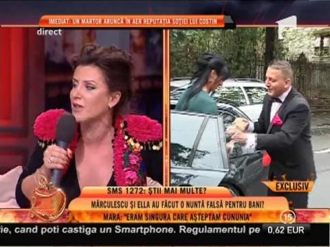 """Mara Bănică: """"Cu o zi inainte de căsătorie, soția lui Mărculescu nu vroia să se mai mărite!"""""""