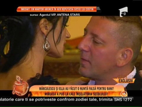Costin Mărculescu, căsătorie din interes!?