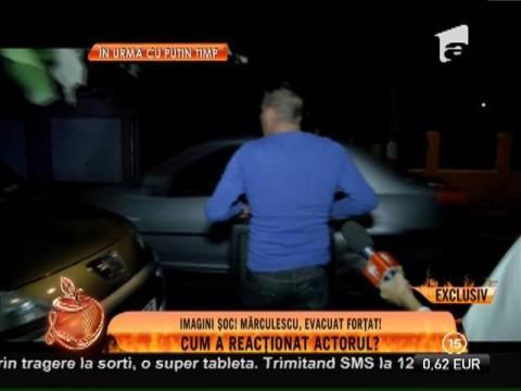 Imagini cu evacuarea lui Costin Mărculescu