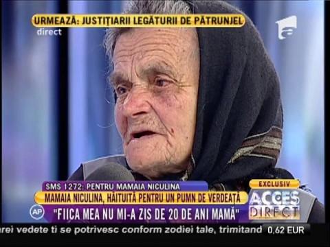 "Mamaia Niculina: ""Toți banii mei din pensie merg la tribunal!"""