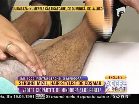 Serghei Mizil, hair-stylist de coșmar! A măcelărit vedetele la coafor