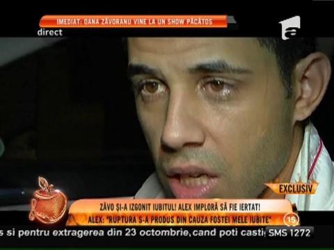 Oana Zăvoranu l-a dat afară din casă! Primele imagini cu Alex în momentul în care a părăsit casa Queridei